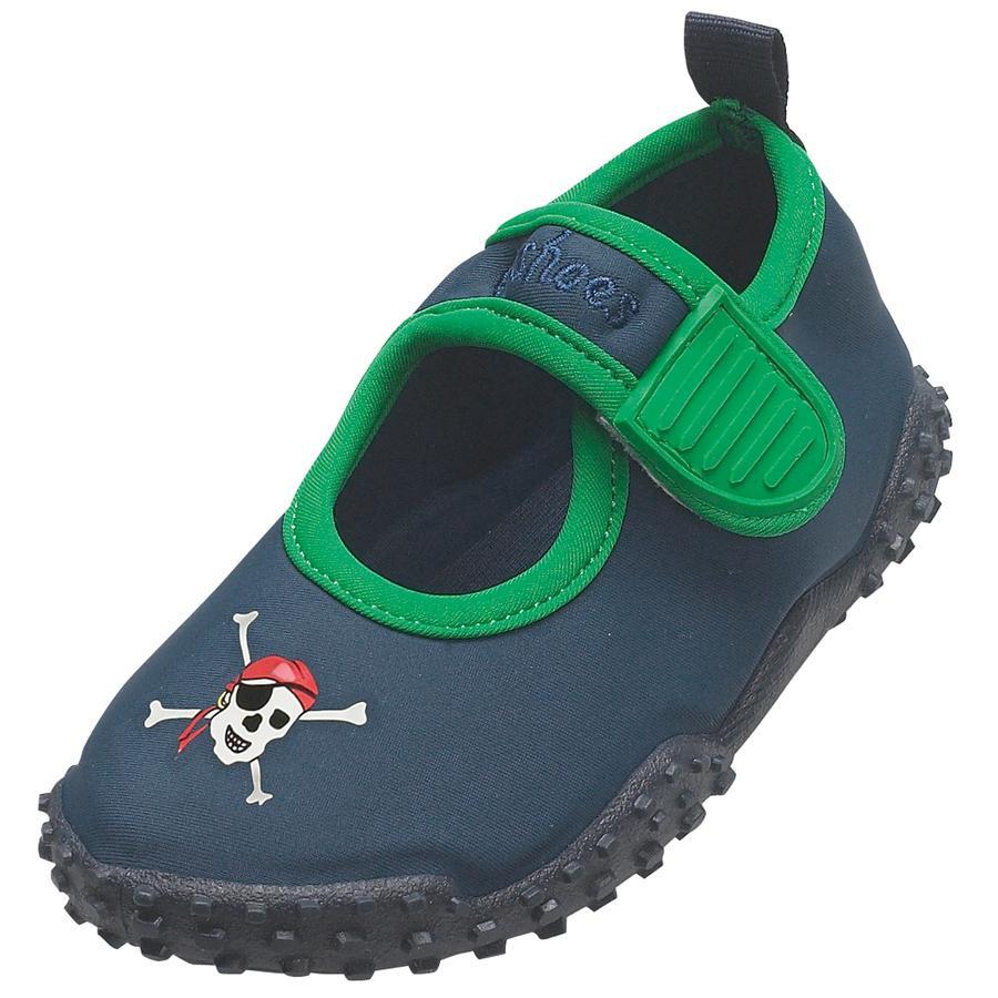 PLAYSHOES Boys Zapatos de baño protección UV 50+ PIRATA azul marino