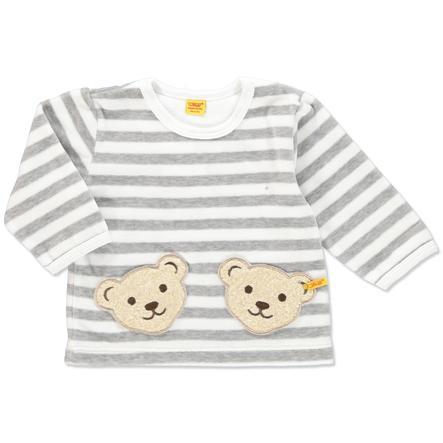 e2c9283aa STEIFF Baby Velour Longsleeve Stripes softgrey