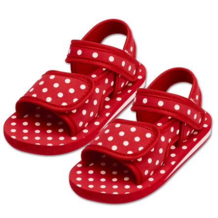 PLAYSHOES Badesandale Punkte rot