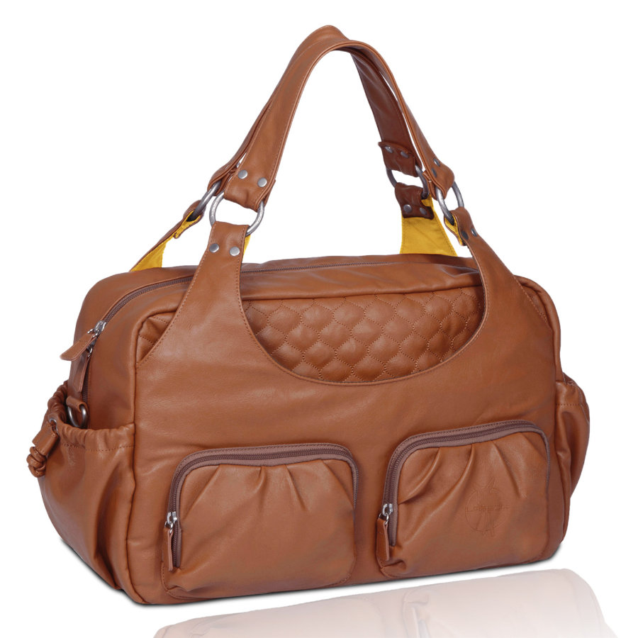 LÄSSIG Luiertas Multi Pocket Bag Cognac
