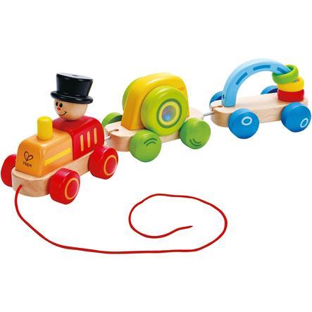 HAPE Jouet à tirer - Petit train coloré