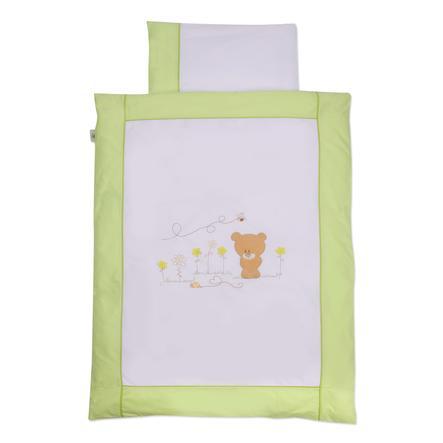 Easy Baby  povlečení 80x80cm  Honeybear zelené (415-39)
