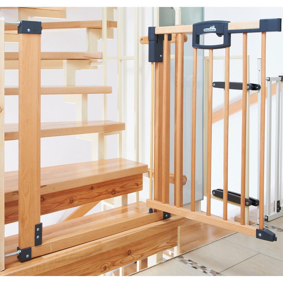 GEUTHER Bramka zabezpieczająca schody Easylock Natur 80,5 - 88,5 cm (2747)