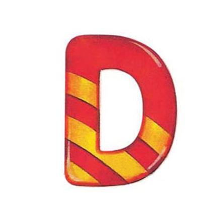 SELECTA dřevěné písmenko D