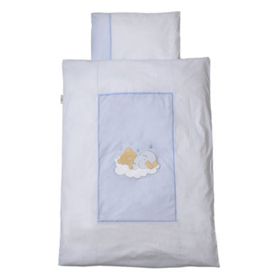 Easy Baby Draps de lit 80x80cm Sleeping bear bleu (415-81)