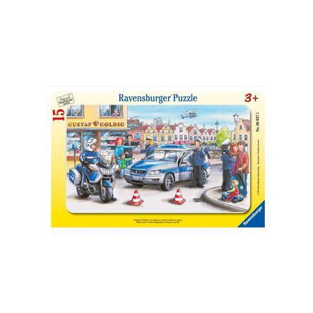 RAVENSBURGER Puzzle cadre Intervention de police 15 pièces