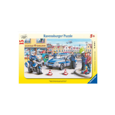RAVENSBURGER Puzzle w ramie Policja 15 elementów 06037