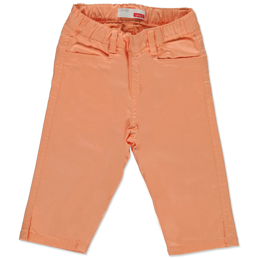 NAME IT Girls Mini Capri Trousers MIXI papaya punch