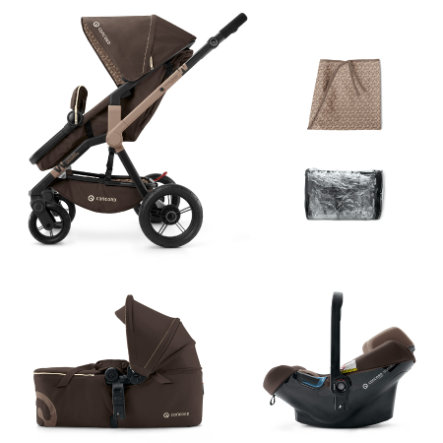 CONCORD Passeggino trio  Wanderer Mobility-Set Chocolate Brown, colore marrone cioccolato