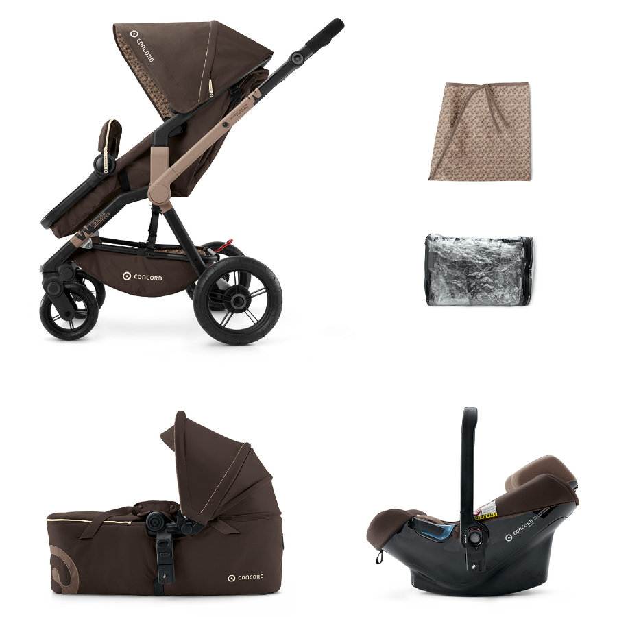 CONCORD Barnvagn Wanderer Mobility-Set Chocolate Brown