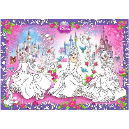 BoMaBi Grande Disegno da Colorare - Disney Princess Animals