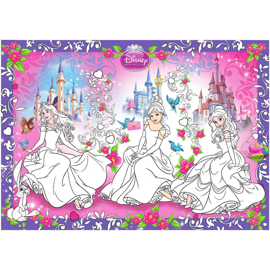 BoMaBi Ausmalposter - Disney Princess XXL, Animals