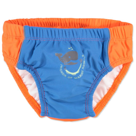 anna & tom Boys Couche de bain à protection UV, bleu/orange