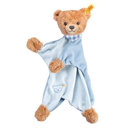 STEIFF Sov-godt-bjørn, sutteklud, 30 cm, blå