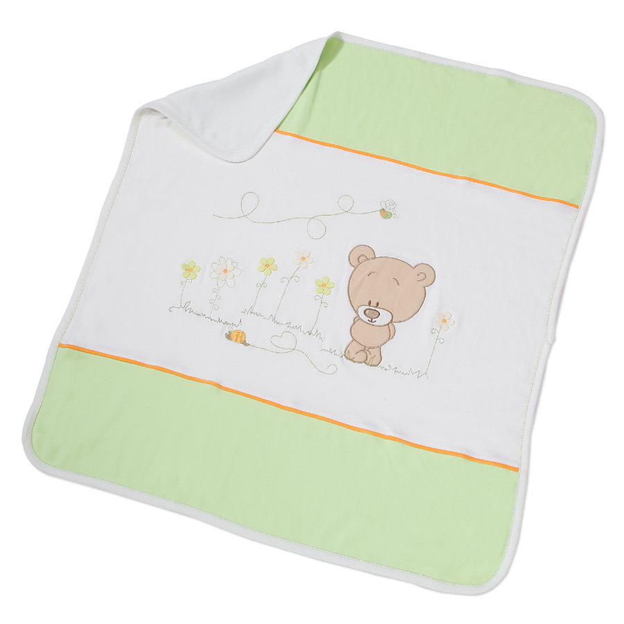 Easy Baby Couverture 75x100cm Honey bear vert (462-39)