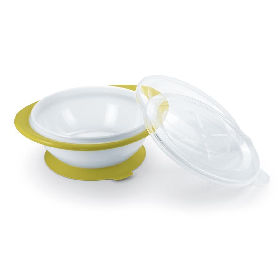 NUK Easy Learning schaal, voor kinderen vanaf 6 maanden, met zuignap, twee deksels, BPA-vrij, kleur pistache