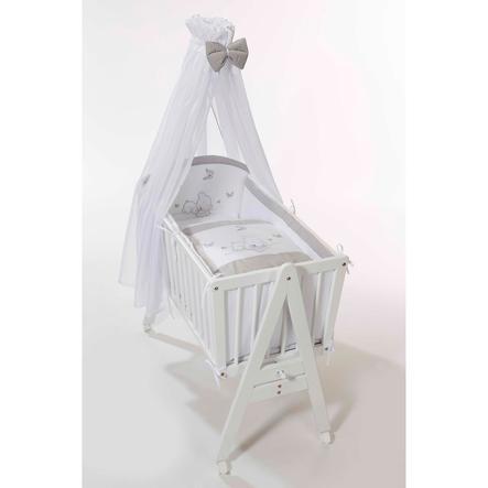 Easy Baby Set biancheria per culla orsetto bianco