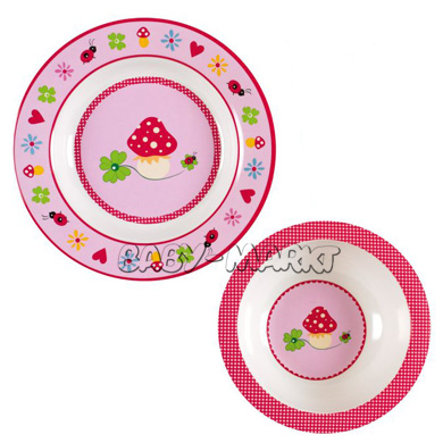 COPPENRATH My first Tableware, pink BABY LUCK