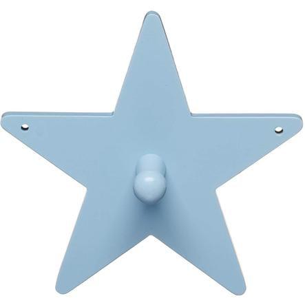KIDS CONCEPT Coat Hook Star, blue 14 cm