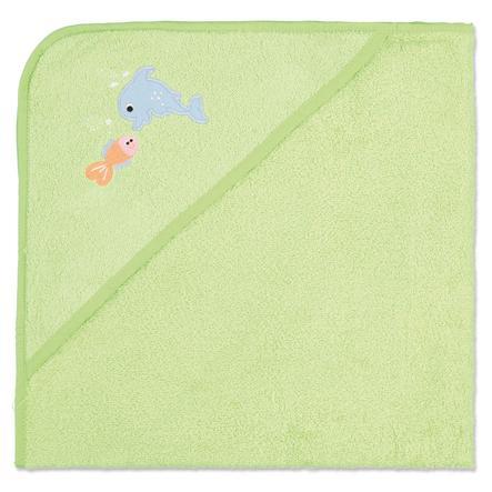pink or blue Frottee Kapuzenbadetuch Tiermotive grün 80 x 75 cm