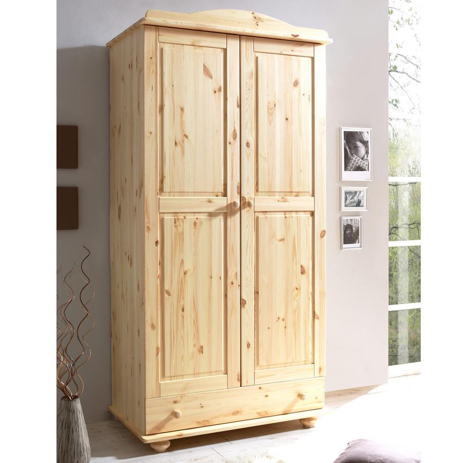 ticaa kleiderschrank adam 2 t rig kiefer natur. Black Bedroom Furniture Sets. Home Design Ideas