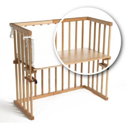 TOBI Babybay original MIDI solid beech wood transparent varnish