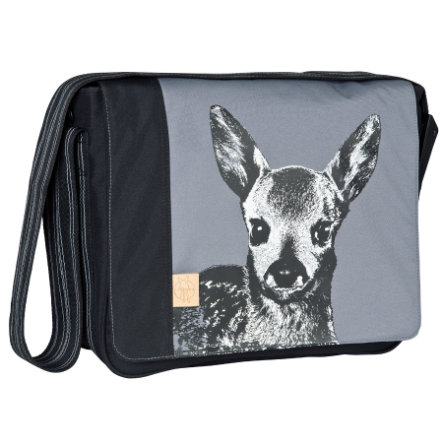 LÄSSIG Casual Messenger Bag Fawn Ash Black