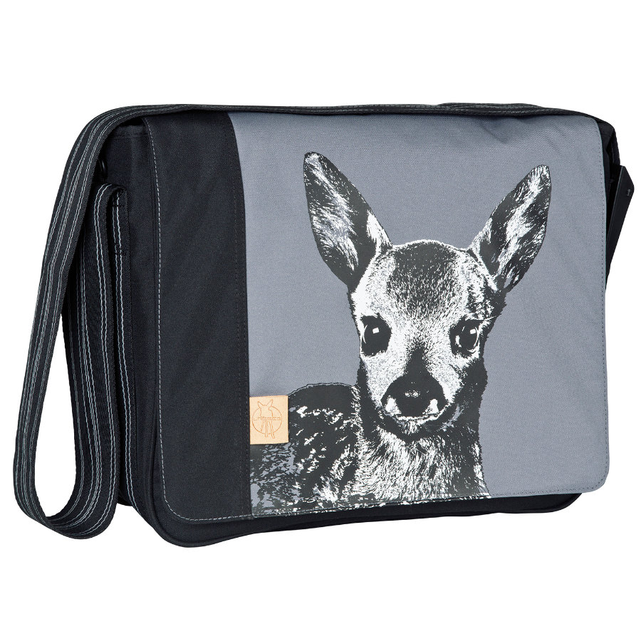 LÄSSIG Wickeltasche Casual Messenger Bag Fawn Ash Black