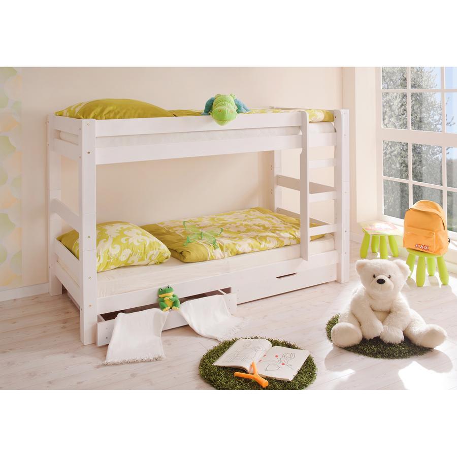 TiCAA Patrová postel Jan bílá