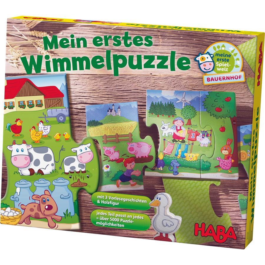 HABA Mein erstes Wimmelpuzzle - Bauernhof 301098