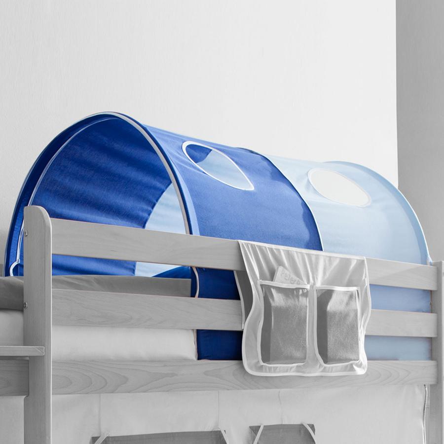 TICAA Tunnel voor hoogslapers en stapelbedden - Lichtblauw met Donkerblauw - Classic