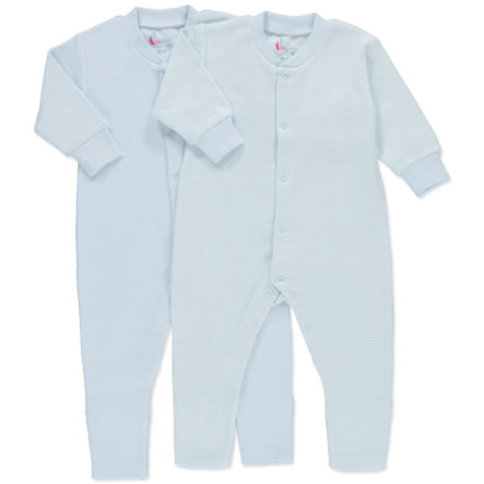 pink or blue pyjamas 1/1 ärm 2-pack blå, vit