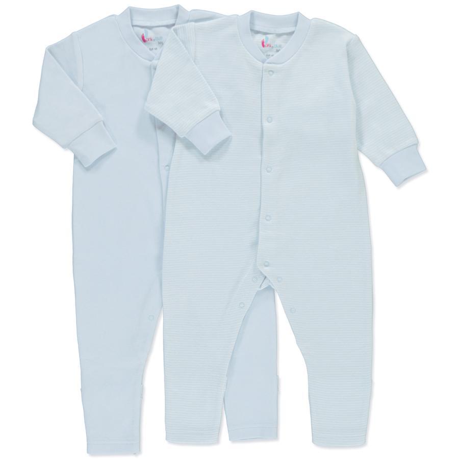 pink or blue Bébé Garçon Grenouillère manches longues Lot de 2 bleu clair, blanc