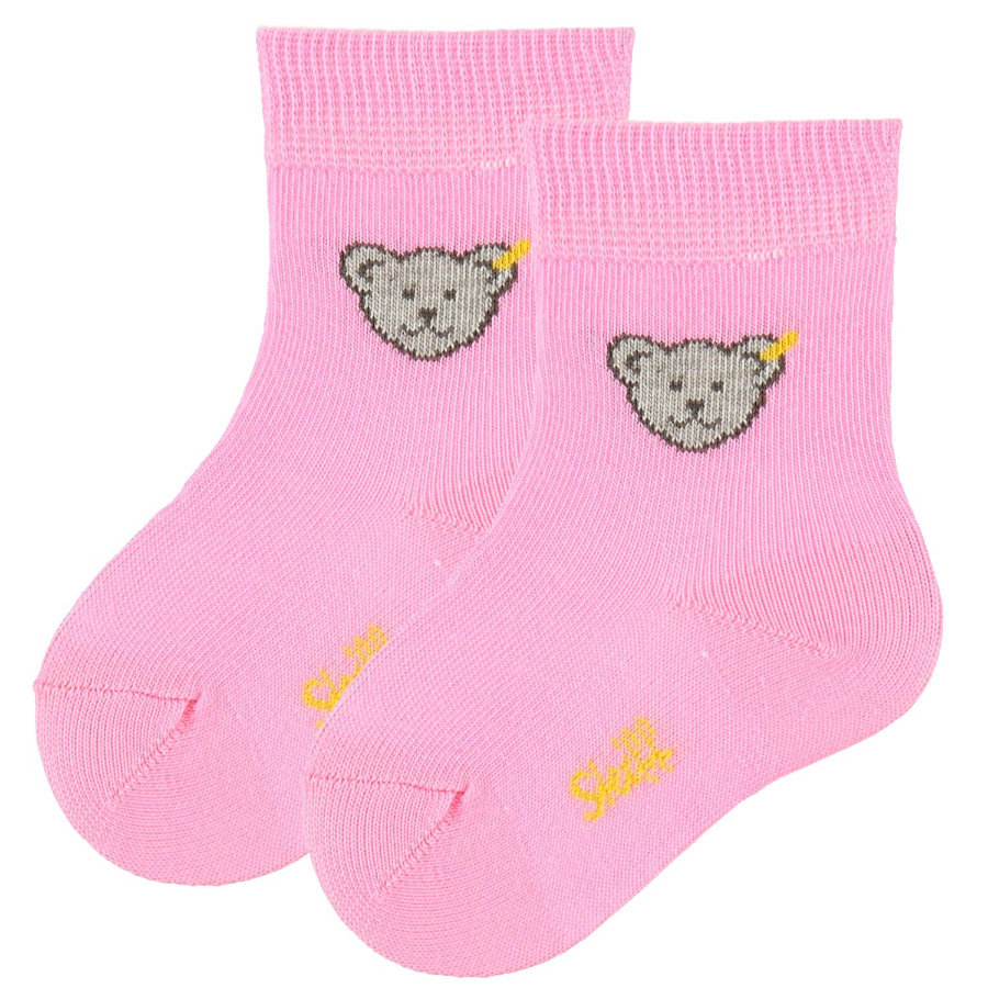 STEIFF Girls Mini Socks Teddy pink