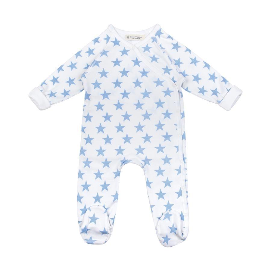 Sense Organics Boys Baby Sleepoverall RENUKA blue stars