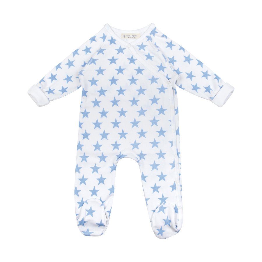 SENSE ORGANICS Boys Baby Śpioszki RENUKA blue stars