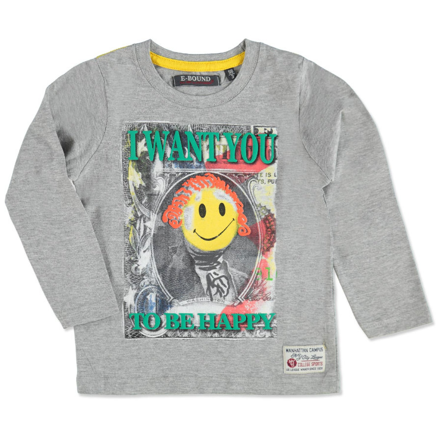 E-BOUND Boys Mini Longsleeve grey melange