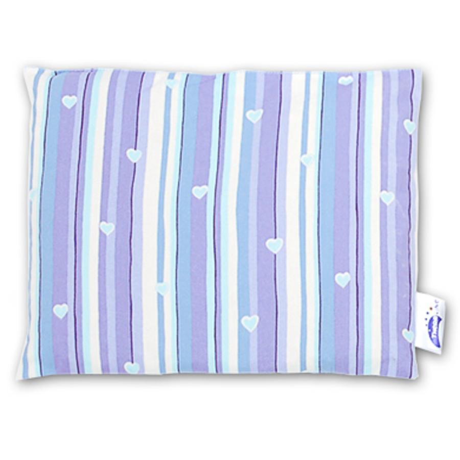 THERALINE Coussin aux Noyaux de Cerise 23 x 26 cm Design 89 Rayures bleues
