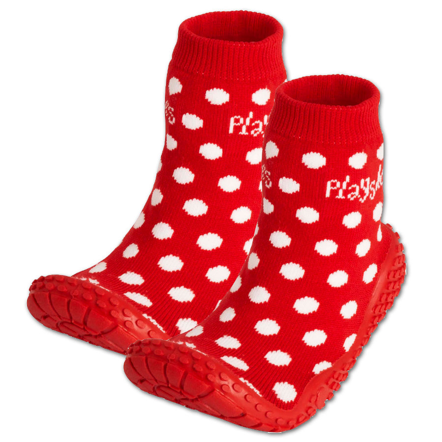 PLAYSHOES Chaussettes de bain points rouge