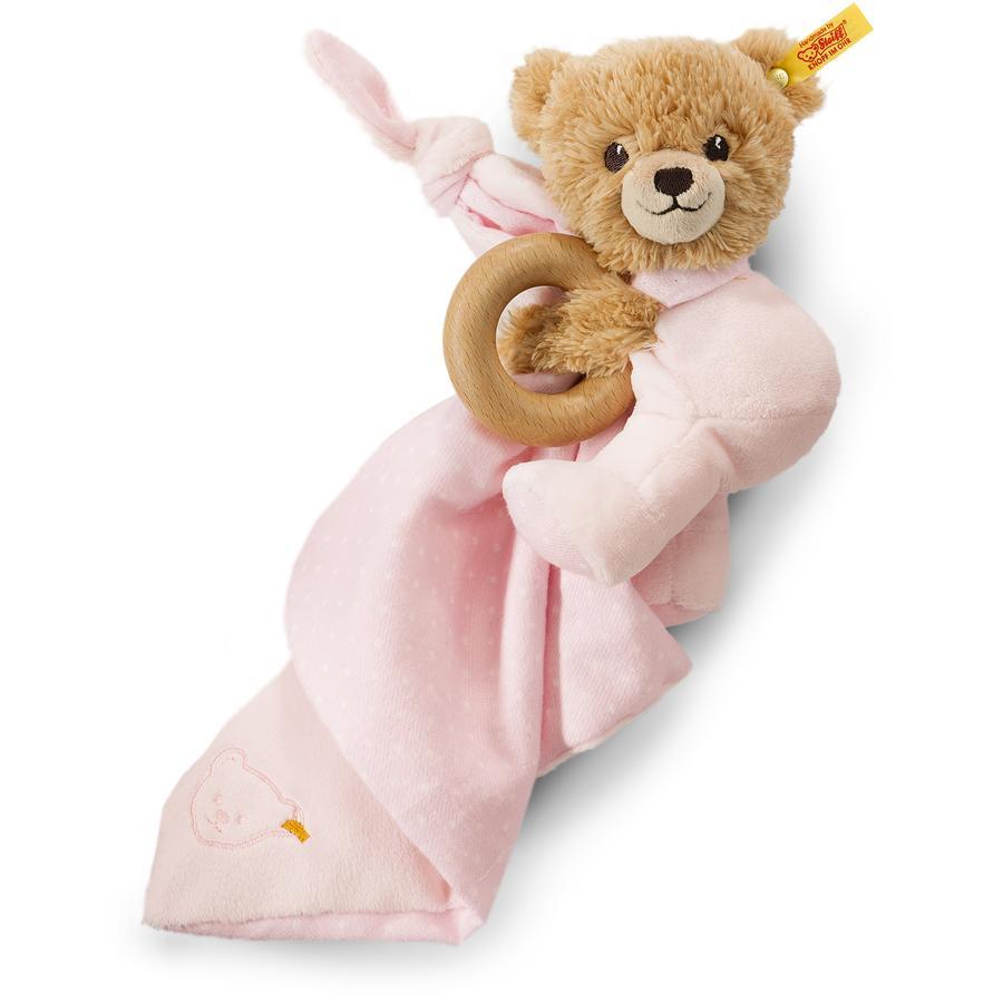 STEIFF Spinkej dobře, medvídek, růžový, 3v1
