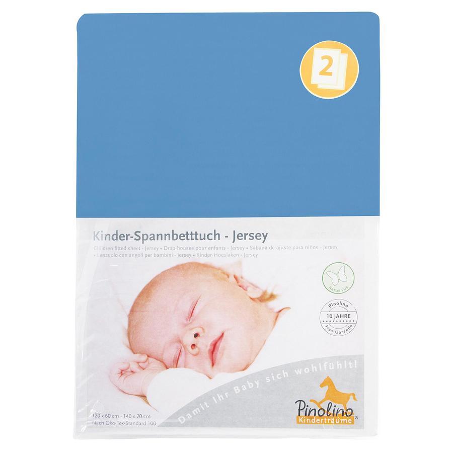 Pinolino Spannbetttuch Jersey Doppelpack - blau
