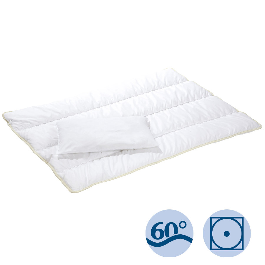 ALVI Mikrofiber-Täcke 80 x 80 cm med kudde 35 x 40