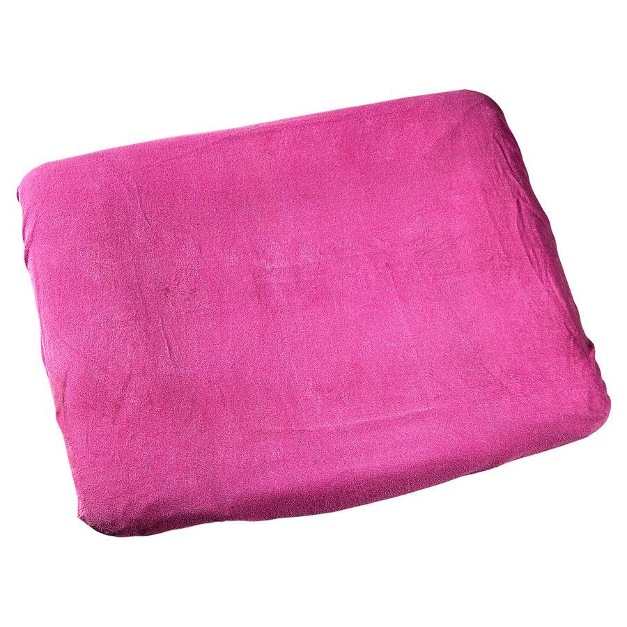ODENWÄLDER Housse de matelas à langer en tissu éponge, 75 x 85 cm, rose