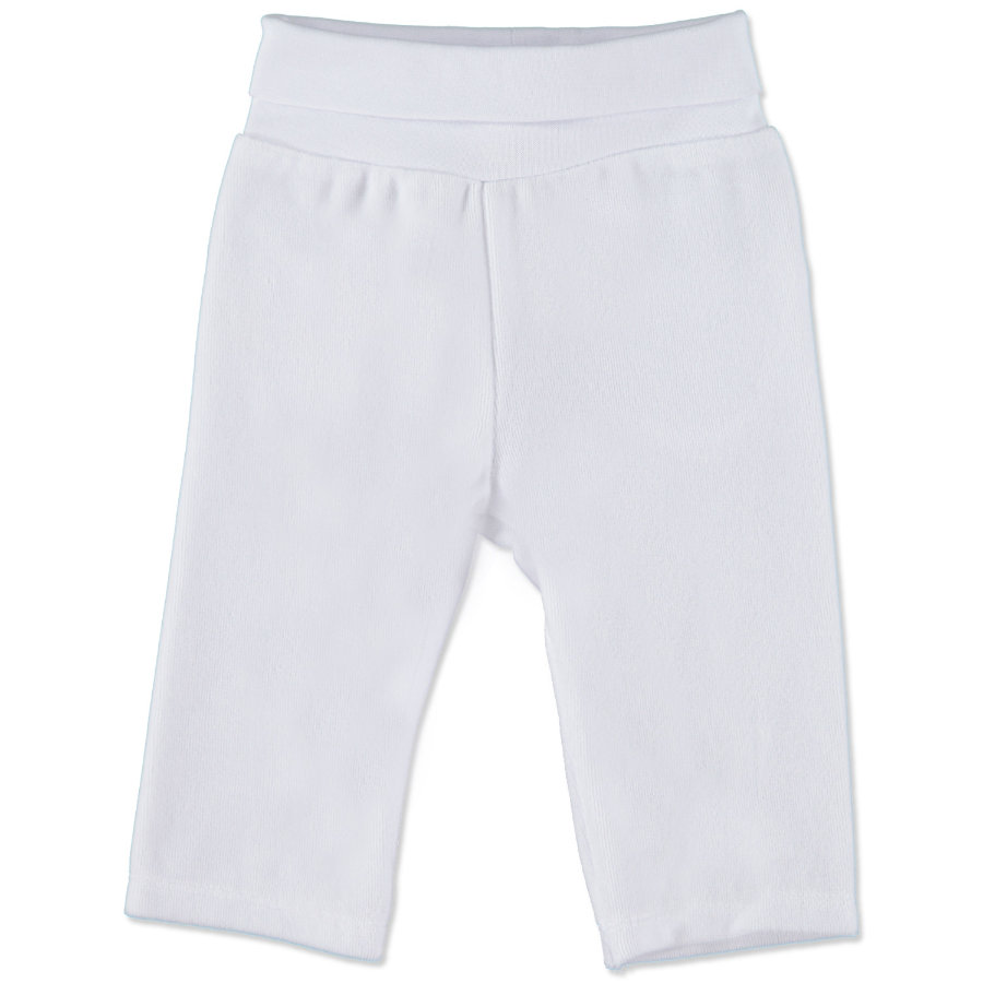 STEIFF Baby Velour Trousers bright white