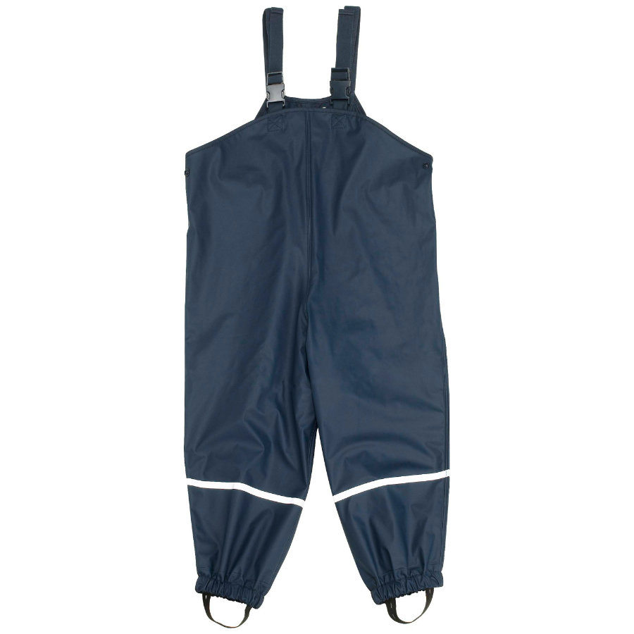PLAYSHOES Boys Regnbyxor med textilfoder blå