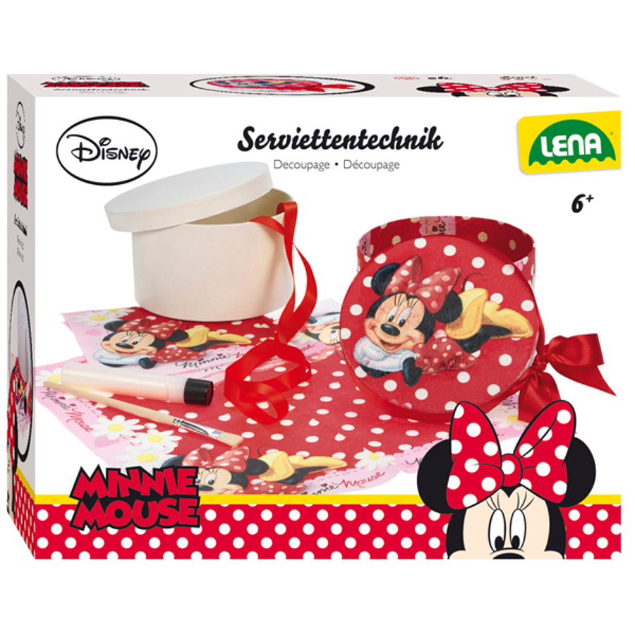 LENA® Disney Minnie Mouse - Serviettentechnik