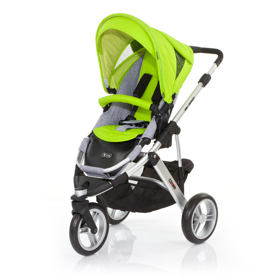 ABC DESIGN Kinderwagen Cobra lime Frame silver/graphite Collectie 2015
