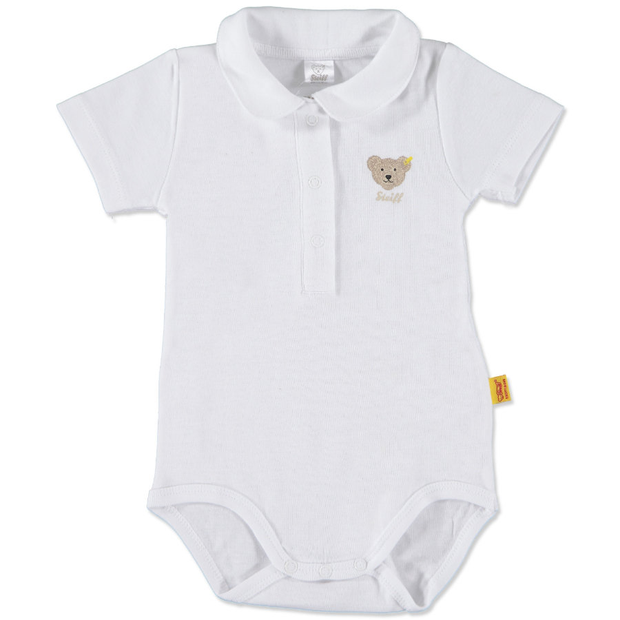 STEIFF Girls Baby Body z rękawem 1/4 bright white
