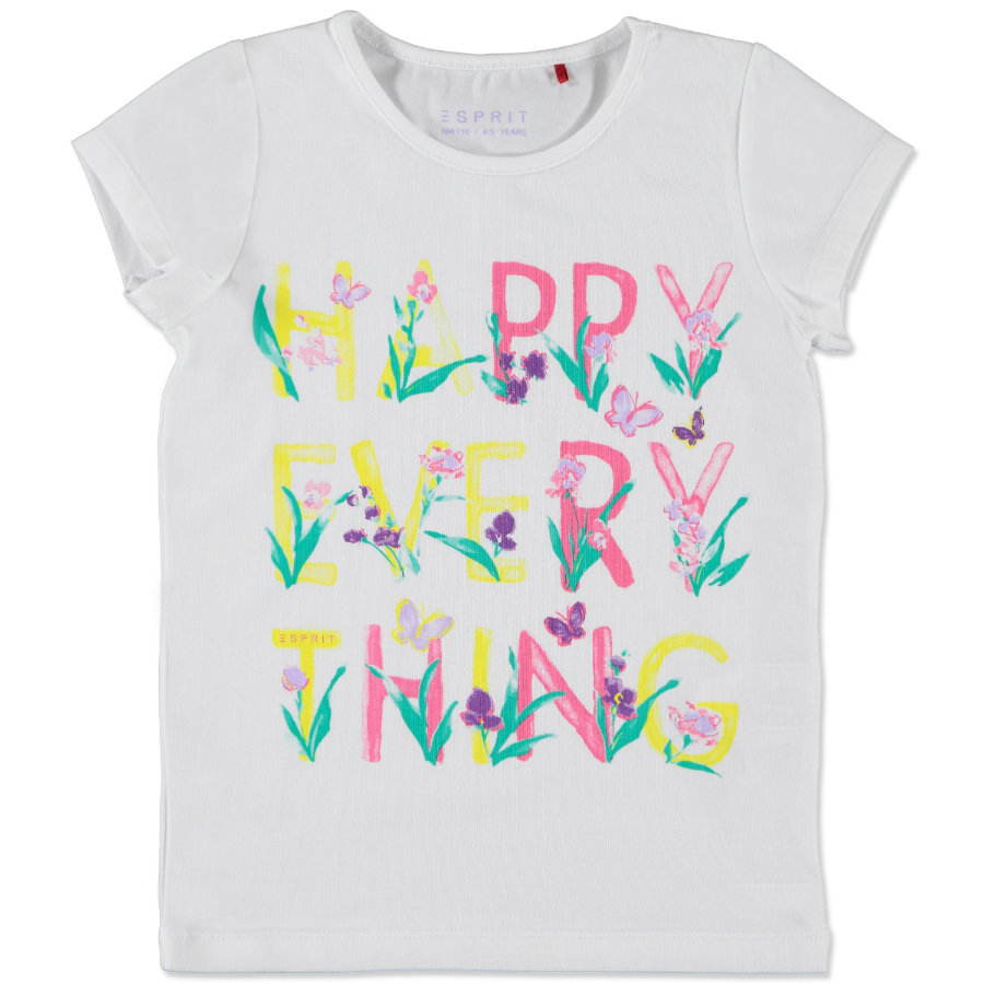 ESPRIT Girls Mini T-shirt HAPPY EVERYTHING white