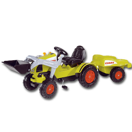 BIG CLAAS Šlapací traktor + přívěs